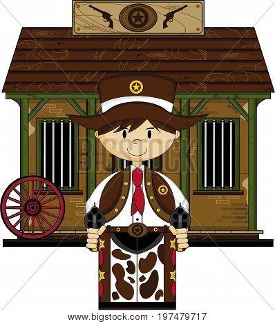 Cute Cowboy At Jail.eps