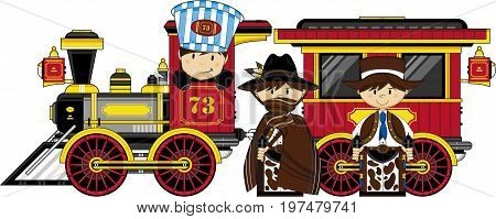 Cowboys And Train.eps