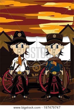 Cowboys & Wagon
