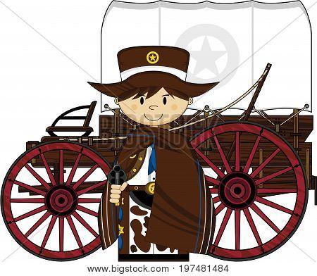 Cowboy Sheriff & Wagon.eps