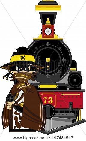 Cowboy Outlaw With Train