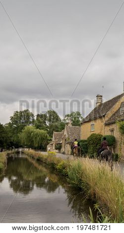 Lower Slaughter in the Cotswolds, England.