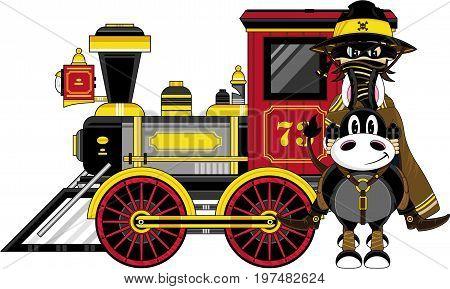 Cowboy Bandit Horse & Train.eps
