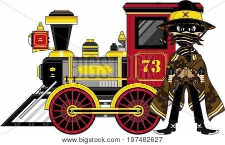 Cowboy Bandit & Train.eps