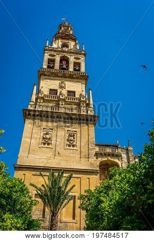 Bell Tower  Of The Mosque-cathedral, The Mezquita In Cordoba, Andalucia, Spain, Europe