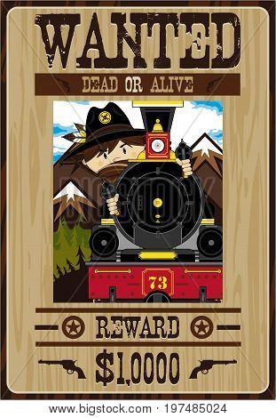Cowboy Bandit Wanted Poster