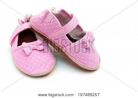 Leather baby girl shoes