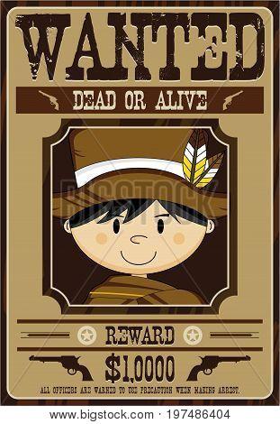 Cute Little Cowboy Poster