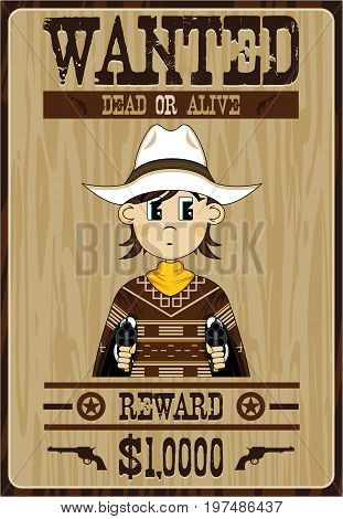 Cute Cowboy Outlaw Poster.eps