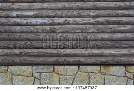 Wooden Wall Of Mountain House