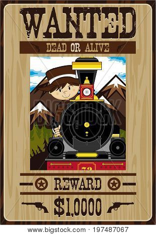Mini Cowboy Wanted Poster