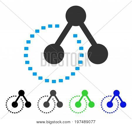 Molecule Structure Analysis flat vector icon. Colored molecule structure analysis gray, black, blue, green pictogram versions. Flat icon style for application design.