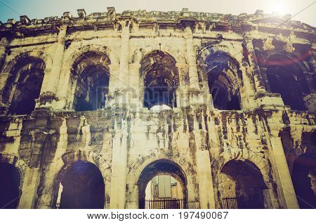 a roman amphitheatre in a Nimes France