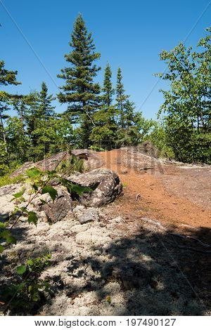 On the Humpback Trail in George H. Crosby Manitou State Park near Little Marais Minnesota USA
