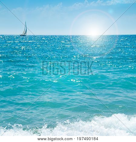 french riviera view of sea sky and sun