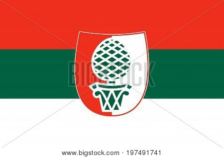 Flag of Augsburg is a city in Swabia Bavaria Germany. Vector illustration