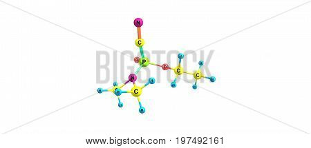 Tabun Molecular Structure Isolated On White
