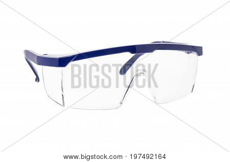 Safety Goggles Glasses Isolated On White Background