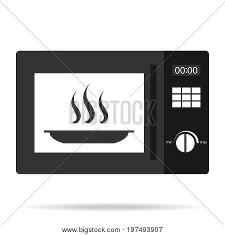 Microwave oven microwave oven icon. Flat design vector illustration vector.
