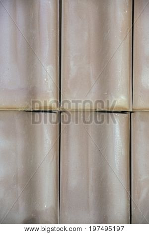 Closeup Of Clay Roof Tiles Background 4