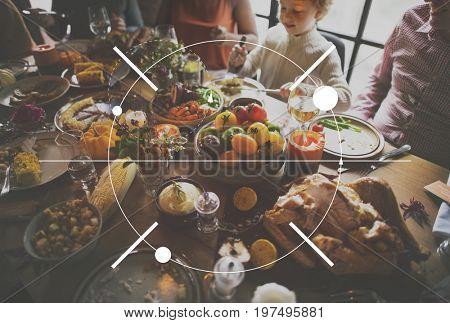 Icon Thanksgiving Family Dinner Feast