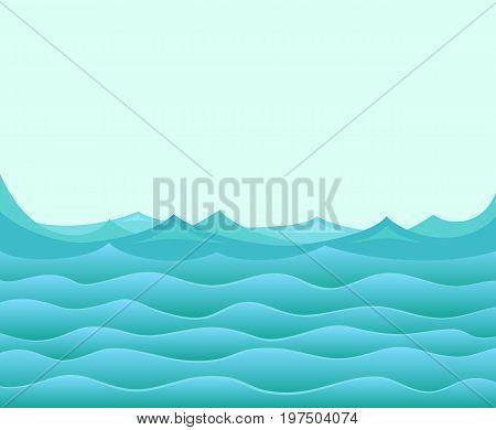 The Seascape with a deep blue sea.