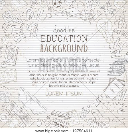 Vector Vintage Education Background.