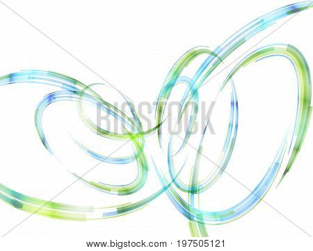 Abstract spiral stripes in form of loops and arcs. Combination lines and ribbons for abstract background. Best vector graphic for various design illustration art decor etc