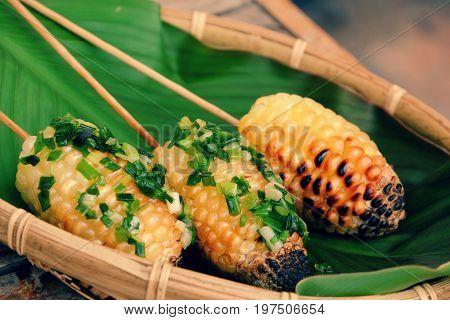 Grilled Corn, Hot Corncob