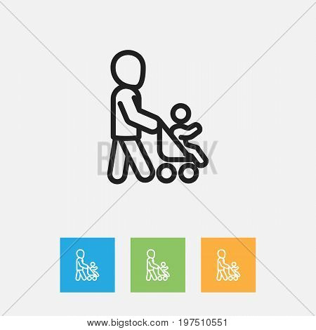 Vector Illustration Of Relatives Symbol On Daddy Outline