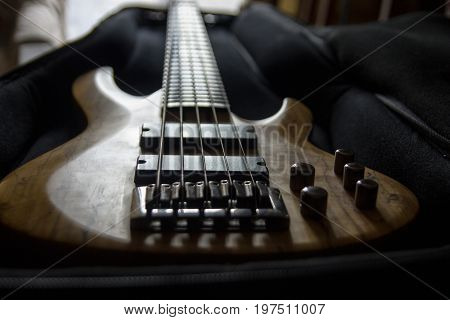 Bass Guitar In The Case, Close Up