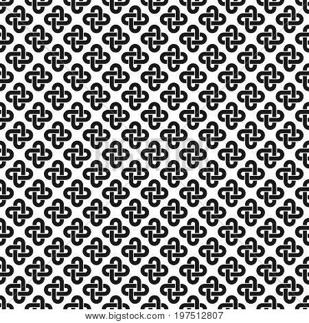 solomon knot seamless pattern. vector illustration - eps 8