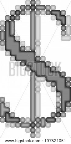 Art 3d dollar vector symbol on white