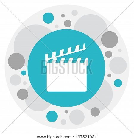 Vector Illustration Of Filming Symbol On Clapper Icon