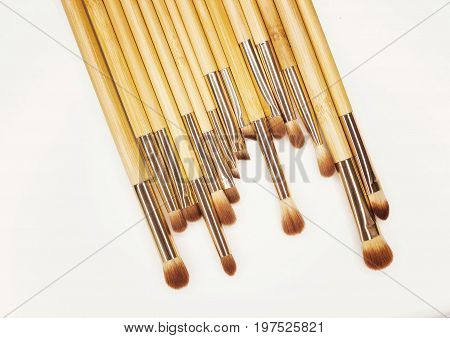 Brushes For Make-up Bamboo