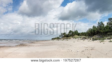 Panorama Of Baltic Sea Coastline