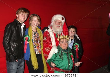 LOS ANGELES - NOV 28:  Jason Dolley, Bridgit Mender, Tom Connaghan, Michael L Gogin, Bradley S Perry arrive at the Hollywood Christmas Parade at Hollywood Boulevard on Nov 28, 2010 in Los Angeles, CA
