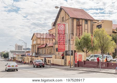 WINDHOEK NAMIBIA - JUNE 18 2017: The Namibia Craft Centre in the Old Breweries Complex in Windhoek provides retail space for communities craft enterprises