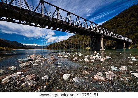 Alpine Bridge in New Zealand