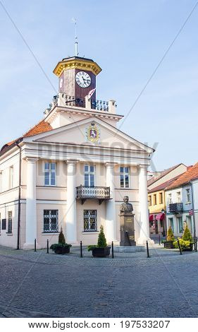 Konin, Poland. Historic Town Hall. Greater Poland Province.