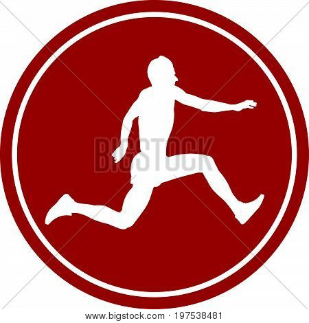 sports sign icon male athlete jumper a triple jump