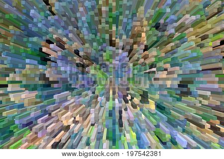 creative bluish and greenish abstraction with abstract beams