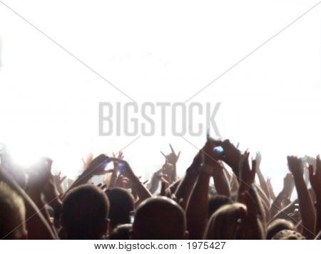 Audiencia de concierto de rock
