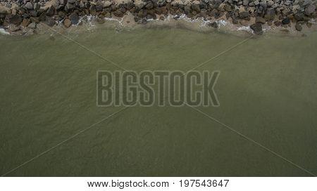 Sandy Beach By The Sea