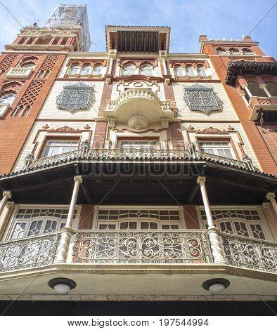 La Giraldilla de Badajoz. Replica of La Giralda of Seville. This building belongs to regionalism style