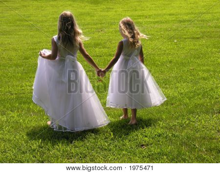 Flower Girls Holding Hands