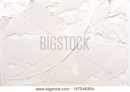 White wall with plaster pattern background. Textured backdrop, relief. House repair, interior design concept