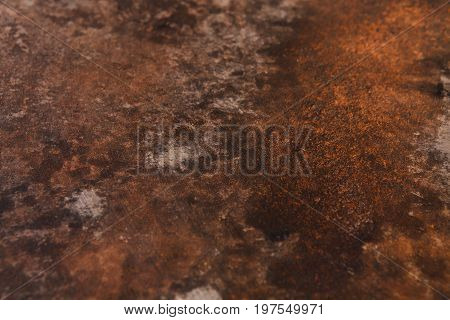 Old rusty iron background. Corrosion of metal, copy space