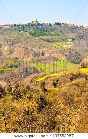 The Little Town Of Mondaino In Italy
