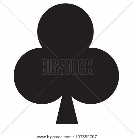 playing card club suit icon on white background. playing card club suit sign.